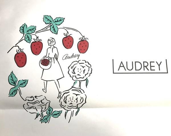 苺のお菓子店オードリーのグレイシアの紙袋デザイン画像