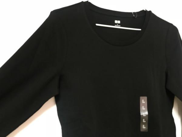 ユニクロのストレッチコットンクルーネックT(長袖)レディース画像