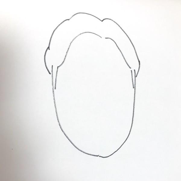 朝倉みくる似顔絵の髪型