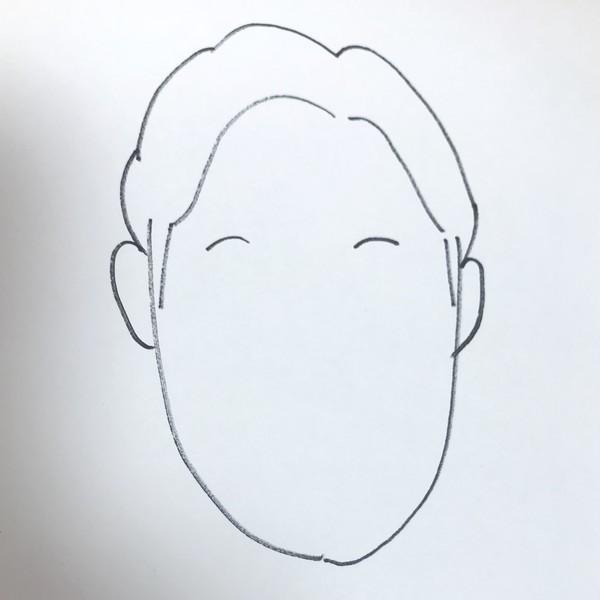 朝倉みくる似顔絵の眉毛