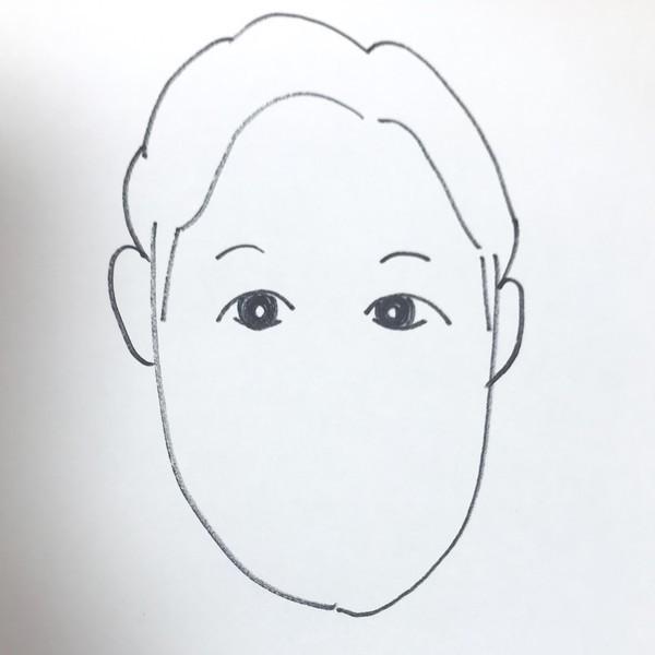 朝倉みくる似顔絵の目