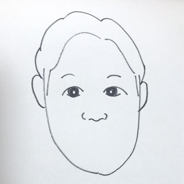 朝倉みくる似顔絵の鼻