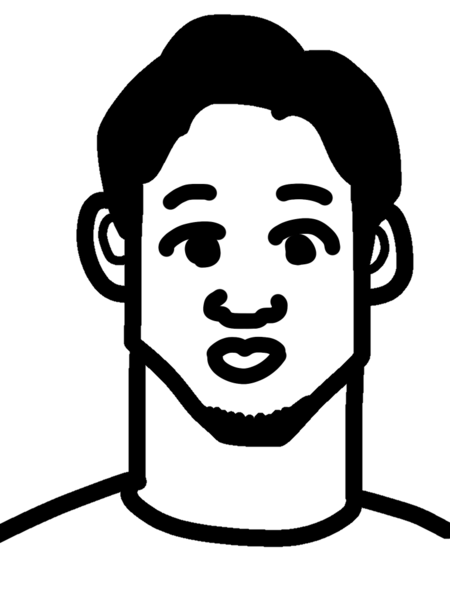 朝倉未来の似顔絵の口