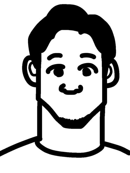 朝倉未来の似顔絵の鼻