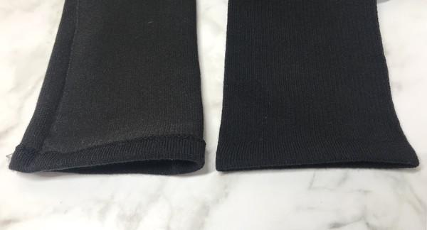 無印良品の足なり直角メンズ靴下の履き口部分