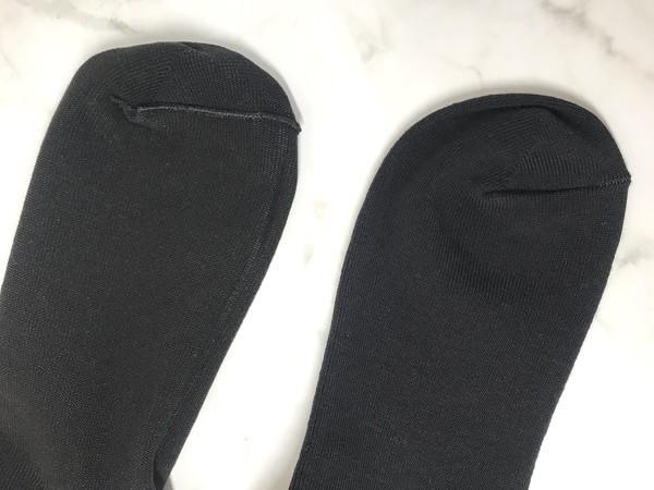 無印良品の足なり直角メンズ靴下のつま先レビュー