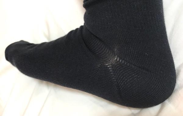 無印良品の足なり直角メンズ靴下のかかとレビュー