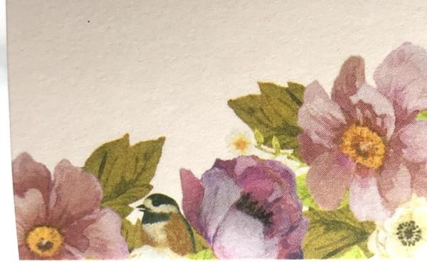 100円ショップセリアの花柄付箋(Kyowa)