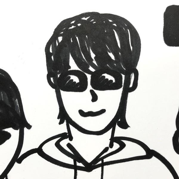 朝倉未来Youtubeメンバーの吉田君の似顔絵