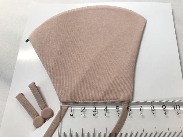 ジーユー高機能フィルター入り新作マスクの無地ピンクのサイズ