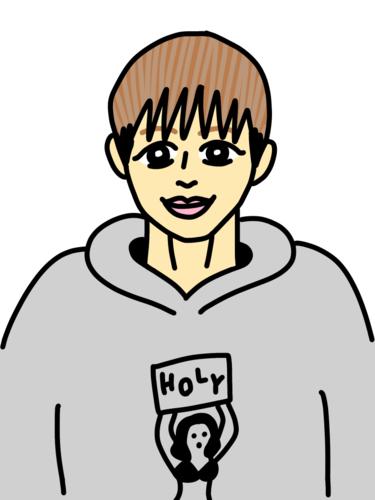 浜崎朱加選手の似顔絵