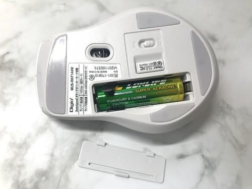 ナカバヤシ Digio2 F_line MUS-RKF144W 電池入れた画像