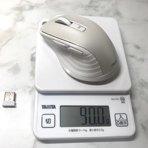 ナカバヤシ Digio2 F_line MUS-RKF144W 本体の重量を測定