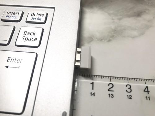 ナカバヤシ Digio2 F_line MUS-RKF144W レシーバーをパソコンに挿す