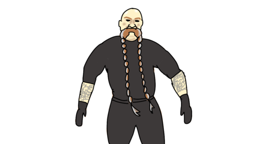bellator MMA referee Mike Beltran イラスト似顔絵