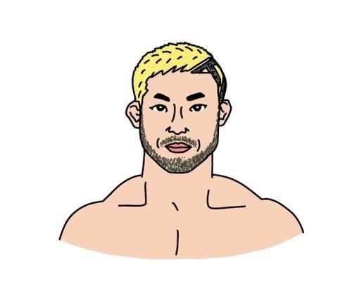 RIZIN格闘家 扇久保博正選手の似顔絵