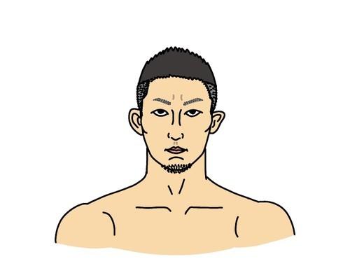 RIZIN総合格闘家の元谷友貴の似顔絵