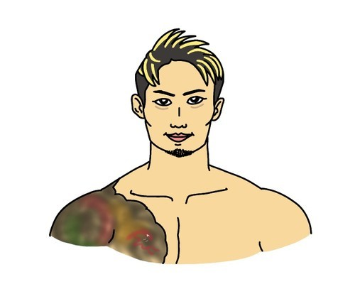 RIZIN総合格闘技選手の金太郎の似顔絵