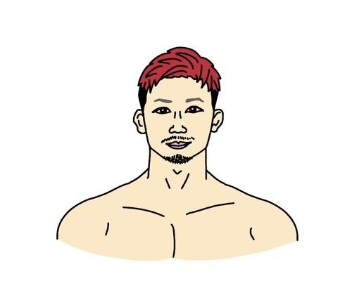 RIZIN総合格闘家の獅庵(しあん)選手の似顔絵