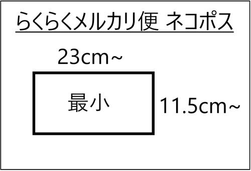 らくらくメルカリ便のネコポスの最小サイズ図