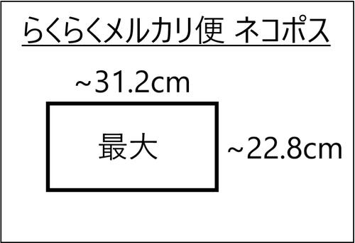 らくらくメルカリ便ネコポスの最大サイズ図