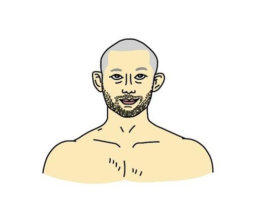 RIZINバンタム級トーナメント出場の今成正和選手の似顔絵