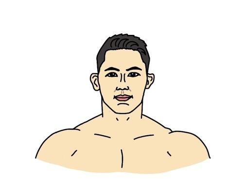 RIZINバンタム級トーナメント2021出場のアランヒロヤマニハ選手の似顔絵