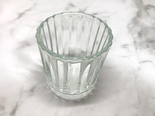ニトリの安いガラス製キャンドルホルダー