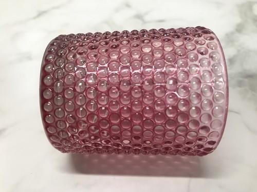 100均キャンドゥのツブツブ柄のガラス製キャンドルホルダー