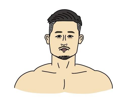 春日井寒天たけし選手の似顔絵