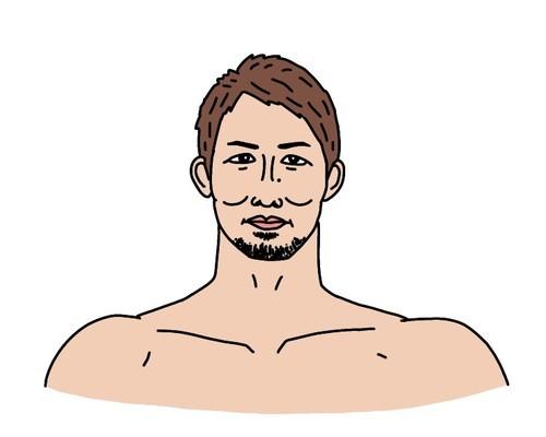 第11代修斗世界バンタム級王者の岡田遼選手の似顔絵