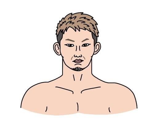 MMAグラチャンバンタム級王者の伊藤空也選手の似顔絵
