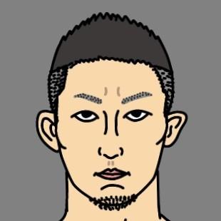 RIZIN総合格闘家 元谷友貴選手の似顔絵