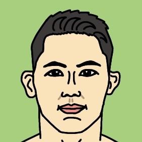 RIZIN総合格闘家 アランヒロヤマニハ選手の似顔絵