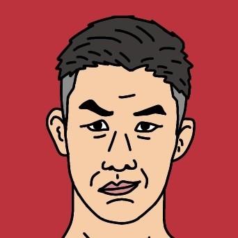RIZIN総合格闘家 大塚隆史選手の似顔絵