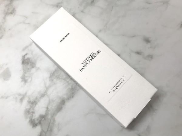 ZARAとジョーマローンのコラボ香水 VETIVER PAMPLEMOUSSE パッケージ画像
