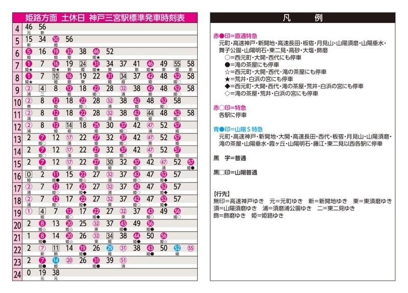 阪神 元町 駅 時刻 表
