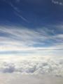 飛行機からの、夏の空