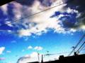 雲一つある青空