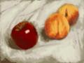 [ちょっと本格的]林檎と桃(額縁無し)