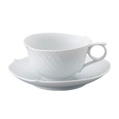 マイセン 波の戯れ ホワイト  ティーカップ&ソーサー