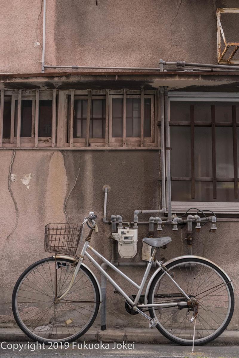 福岡スナップ写真 清川 自転車のある景色