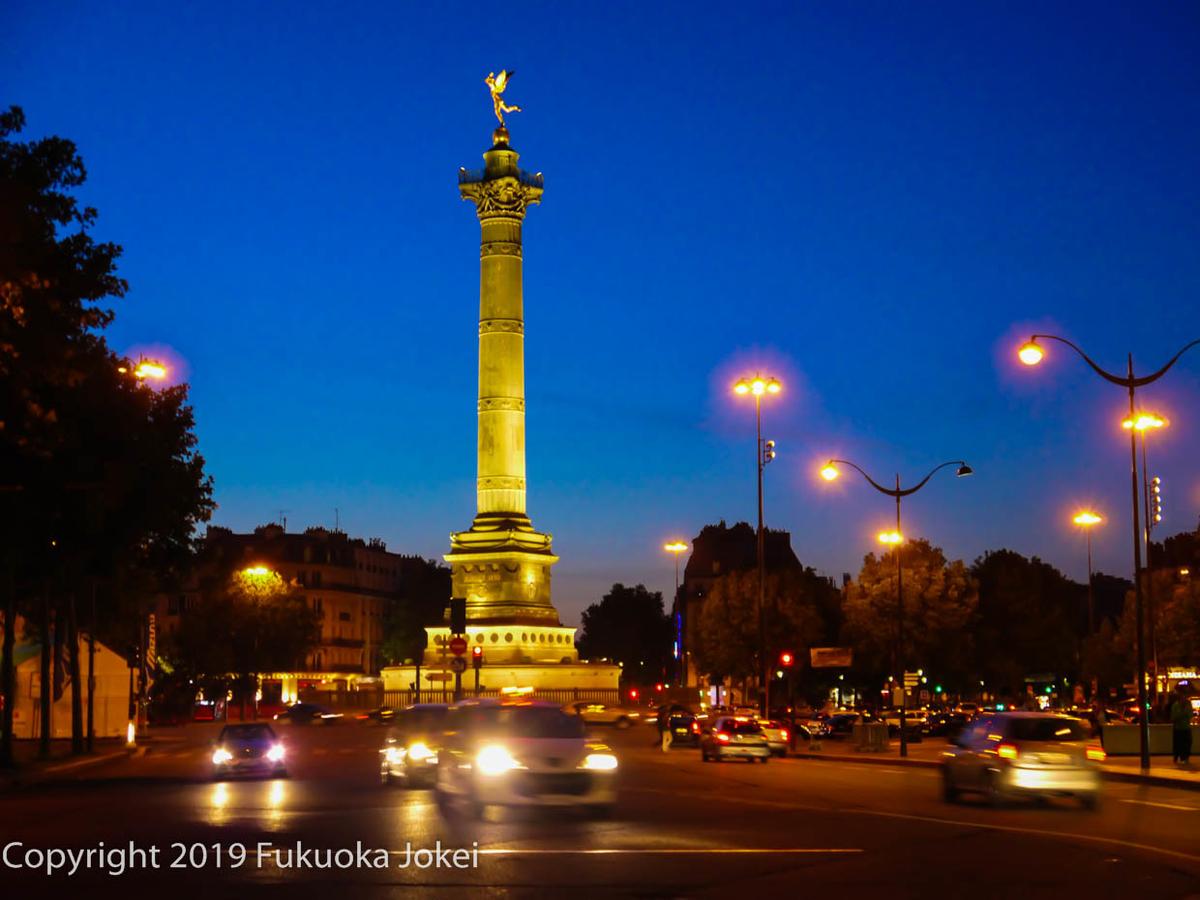 バスティーユの夜景の画像