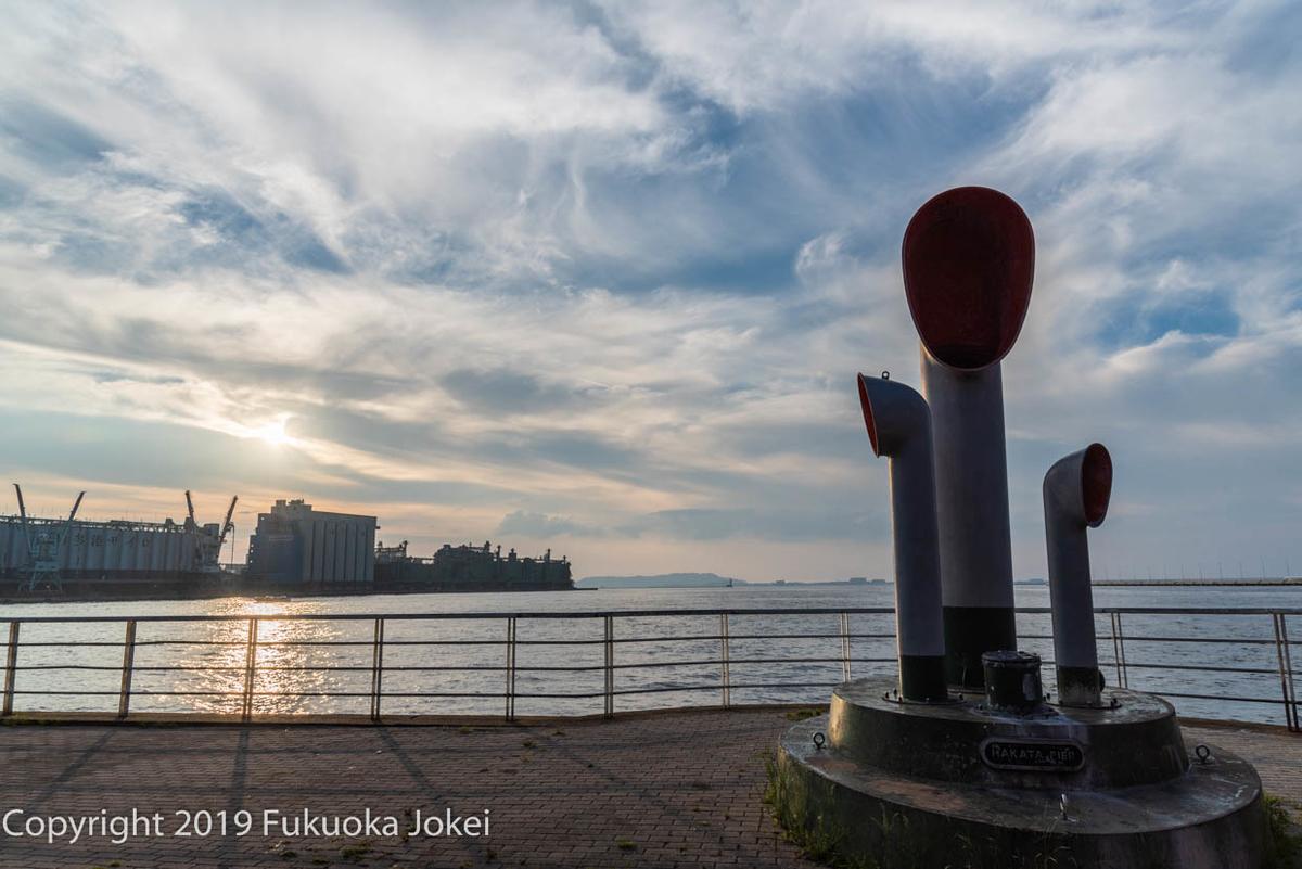 博多港の夕方の画像