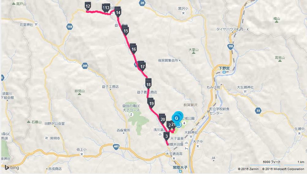 奥久慈湯の里大子マラソンコース地図