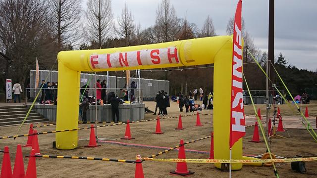 第51回奥久慈湯の里大子マラソン大会のゴール