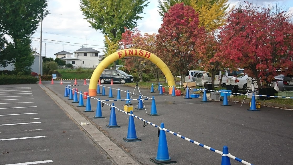 矢吹町さわやか健康マラソン大会ゴール地点の様子