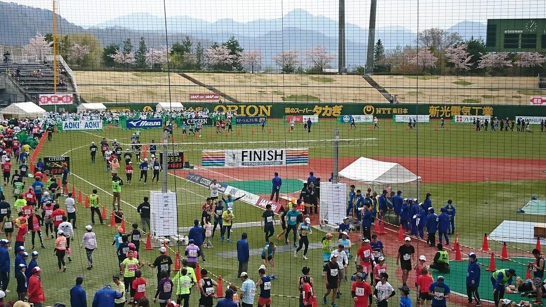 第21回長野マラソン ゴール