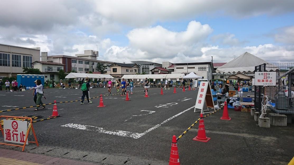 第23回花火の里浅川ロードレース大会会場の様子