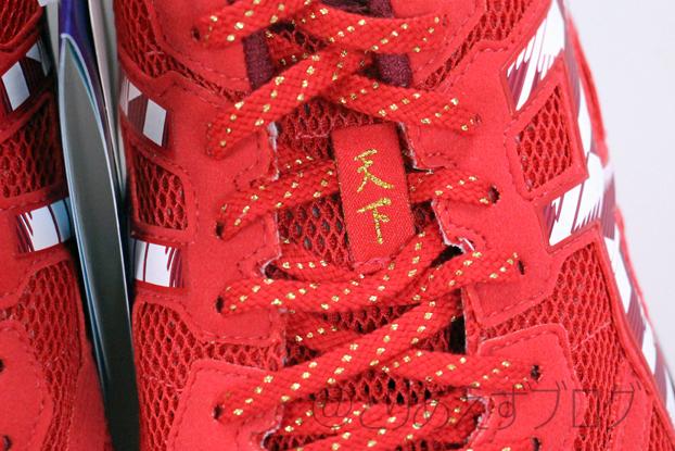 TARTHEREDGE TENKAのアッパーの左足の天下の文字